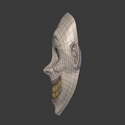 4bb63df1af6 3D model Clown Mask V1 VR   AR   low-poly OBJ MTL 3DS FBX BLEND DAE