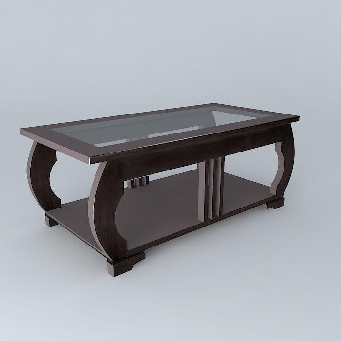 Coffee Table Art Deco Maisons Du Monde 3d Model Max Obj 3ds Fbx Stl Dae 1