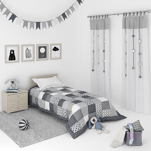 decorative set for a kids bedroom   3d model max fbx 1