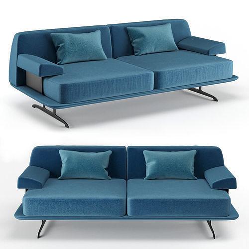 baleri italia trays two seating sofa 3d model max obj mtl fbx 1
