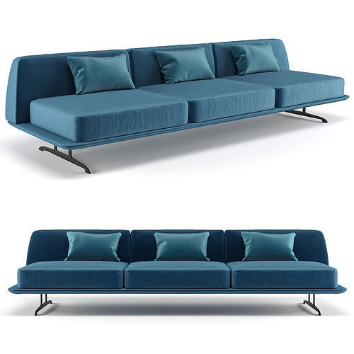 baleri italia trays three seating sofa 3d model max obj mtl fbx 1