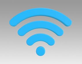 3D ban Wifi wireless internet logo