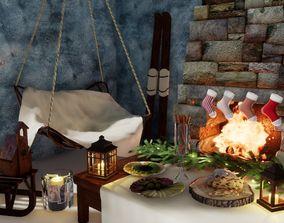 3D model game-ready Furniture set Norvedem