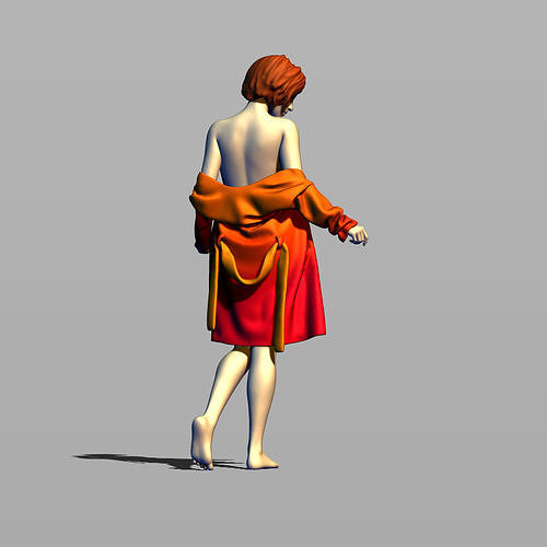 girl in bathrobe 3d model max obj mtl fbx stl ztl 1