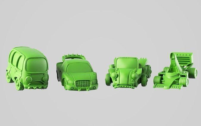 race cars 3d model obj mtl stl 1