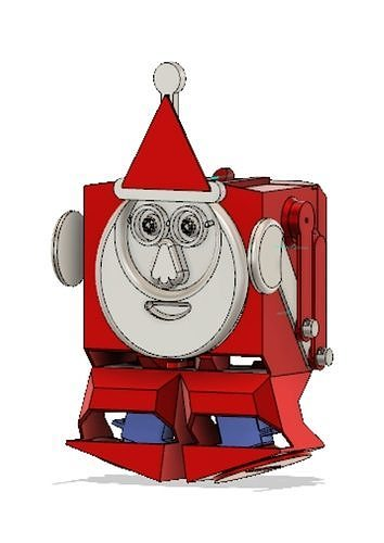 BOXING SANTA BIPED ROBOT