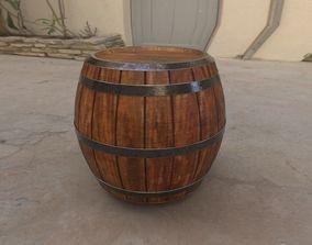 3D model Varnished Wooden Barrel