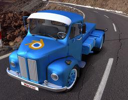 3d scania vabis l36 truck
