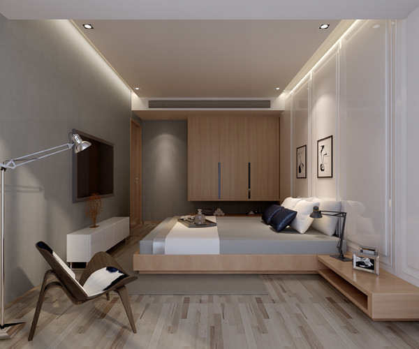 modern flat interior photo real 3d cgtrader