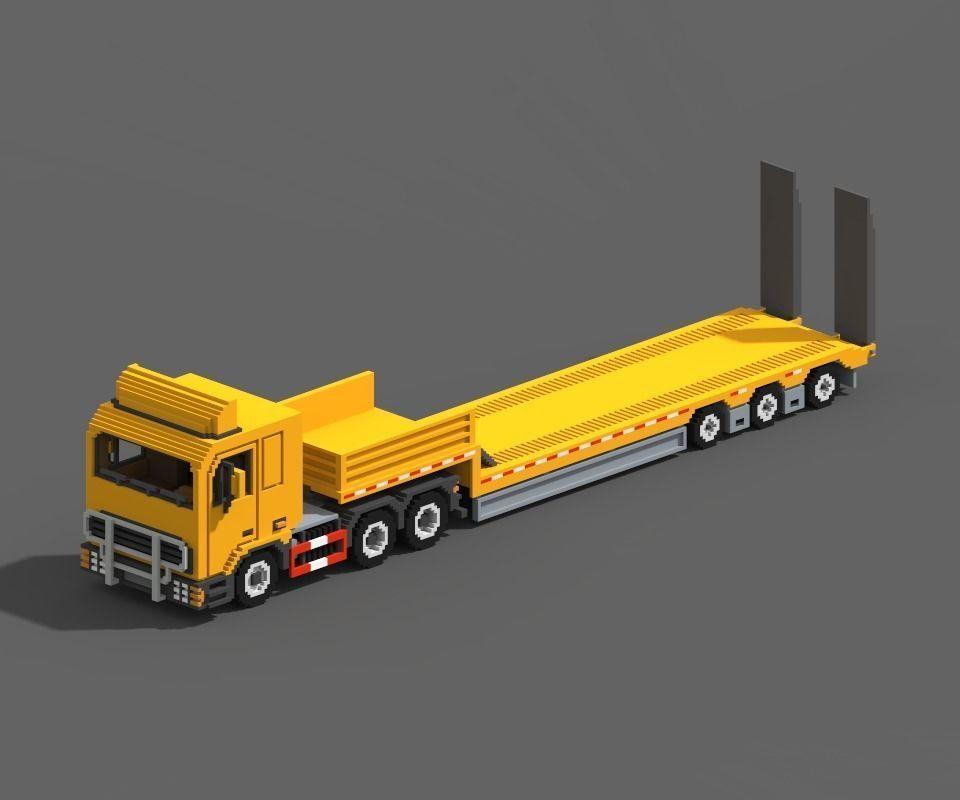 Voxel Truck And Loader Trailer