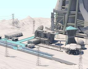 Futuristic Exoplanetary Facility 3D model