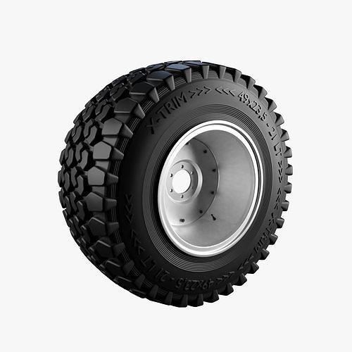 off-road wheel 3d model obj mtl fbx blend 1