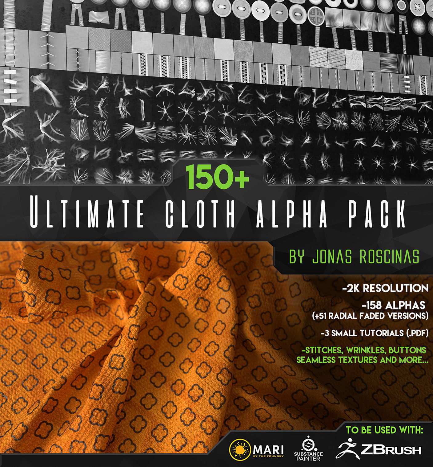 150 Ultimate Cloth Alpha Pack by J Roscinas
