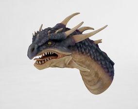 3D asset game-ready Dragon Head