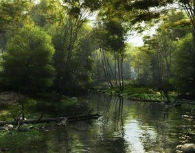 3D model Shady brook in Vue