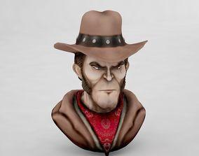 Cartoon Gunslinger 3D model