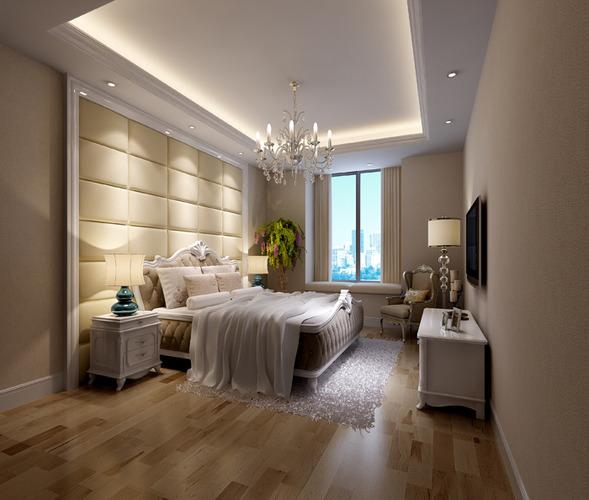 Romantic Bedroom Photo Real 3D Model