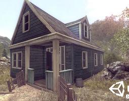 Abandoned Houses 01 - Enterable 3D model