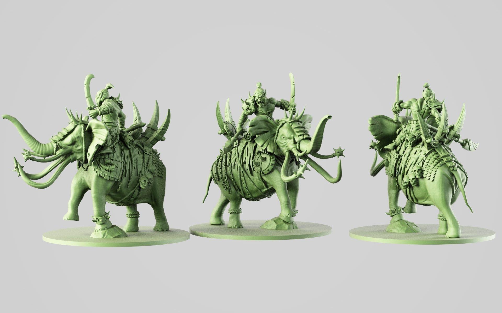 ogre on battle elephant