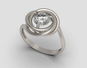 3D print model Gemstone ring design 3
