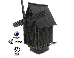Russian Mill01 3D asset animated