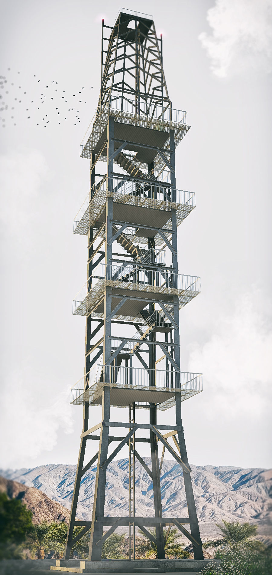 radio tower | 3D model