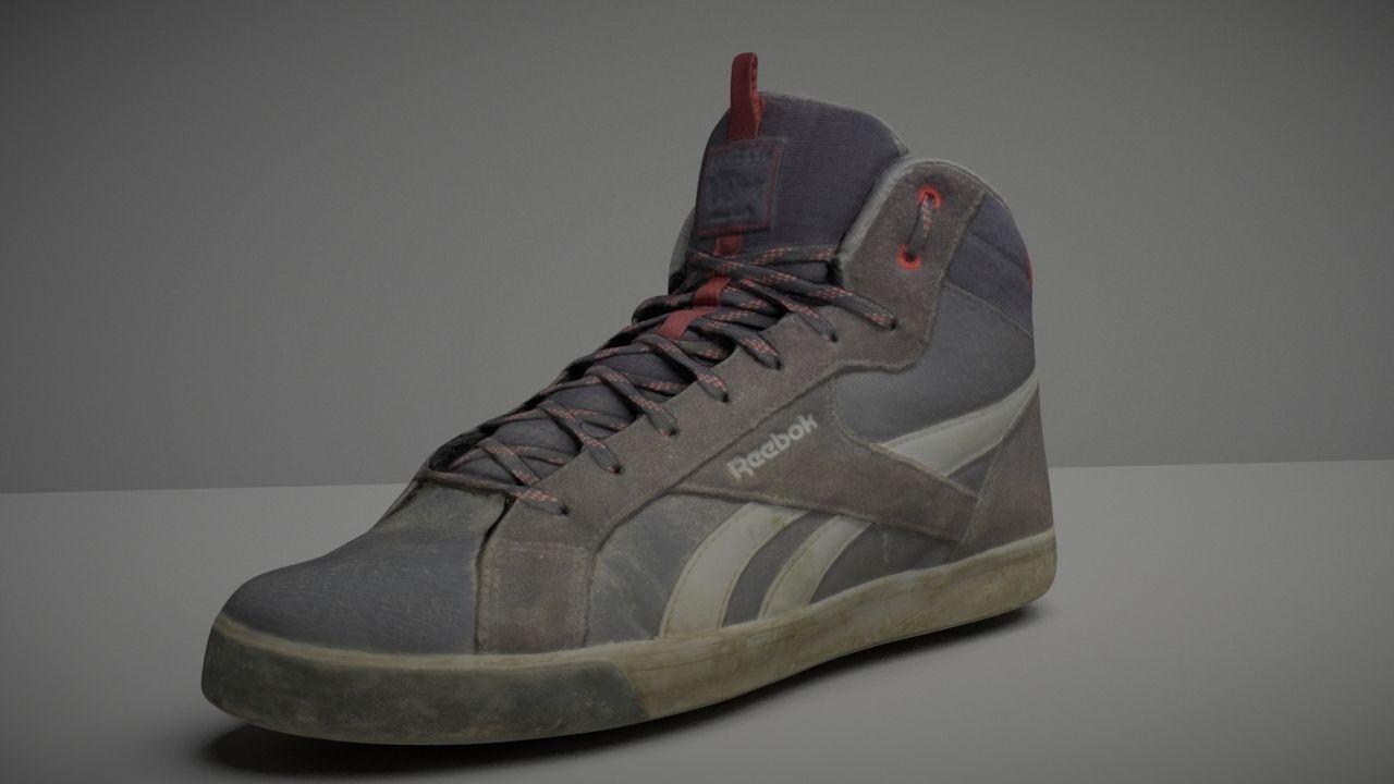 Worn Skater Shoe Low Poly 3D model