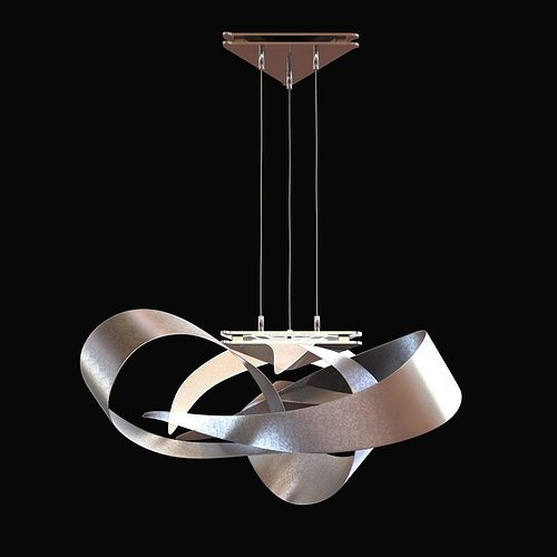 flux led pendant by hubbardton forge 3d cgtrader