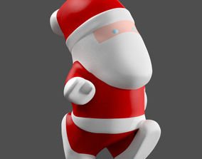 Little Cartoon Santa 3D model