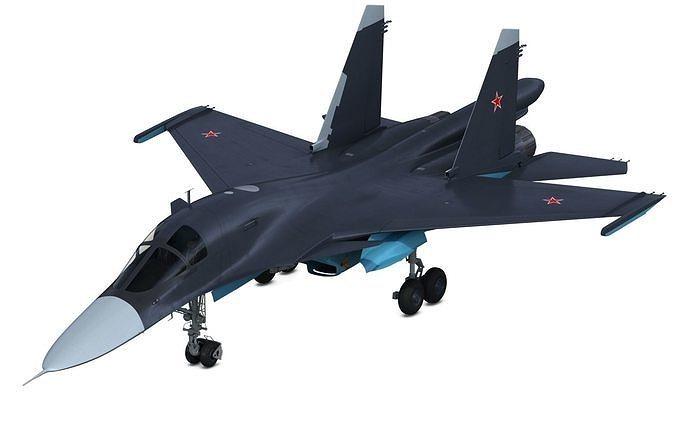 su 34 sukhoi 3d model max obj mtl fbx 1