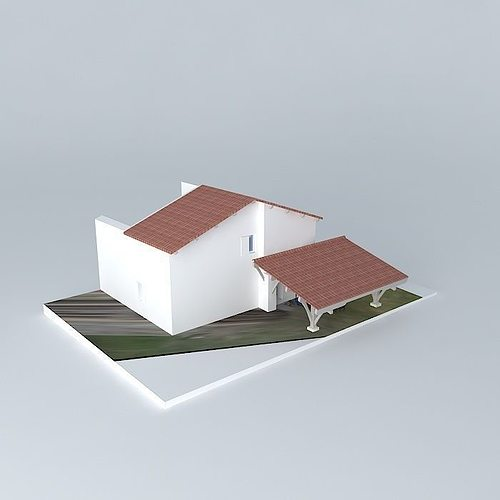 3d renovation guest house cgtrader for Guest house models
