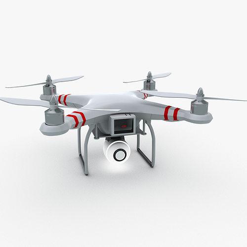 quad copter phantom 3d model max obj mtl 3ds fbx 1