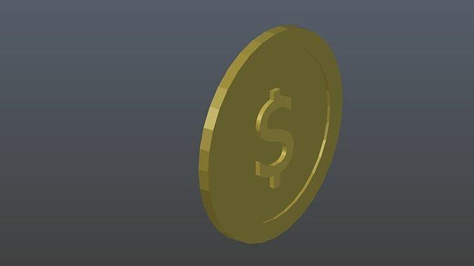 low-poly-dollar-2-3d-model-low-poly-obj-