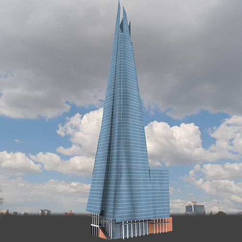 Car Building Games >> 3D model The Shard Building | CGTrader