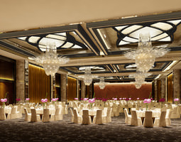 photo real wedding hall 3d model max