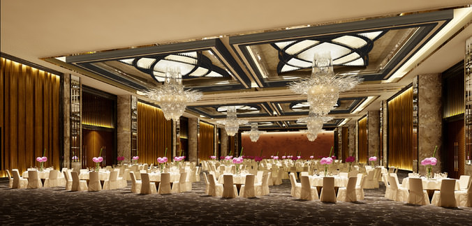 3d Model Photo Real Wedding Hall Cgtrader