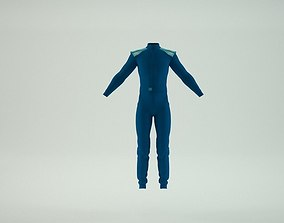 3D model rigged OMP First S Race Suit ALL COLORS