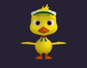 3D Asset - Cartoons - Character - Duck - Hight