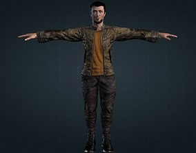 animated Male Survivor Young Boy Rigged Low-poly 3D model