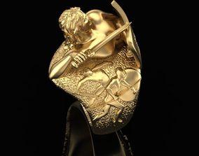 Warrior ring 3D printable model