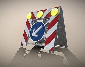3D model Basic Road Barrier 615 - Simple Version