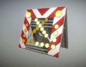 3D asset Road barrier 616-30 - Simple Version