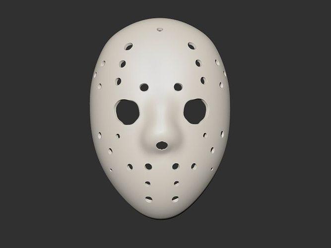 To Print For Jason Mask Pumpkin Stencil: Jason Mask 3D Model 3D Printable STL