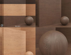 floor Wood material veneer slab seamless 3D model