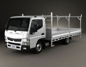 3D model Mitsubishi Fuso Canter 515 Wide Single Cab 2