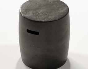 3D model RH - CAST CERAMIC CYLINDER SIDE TABLE