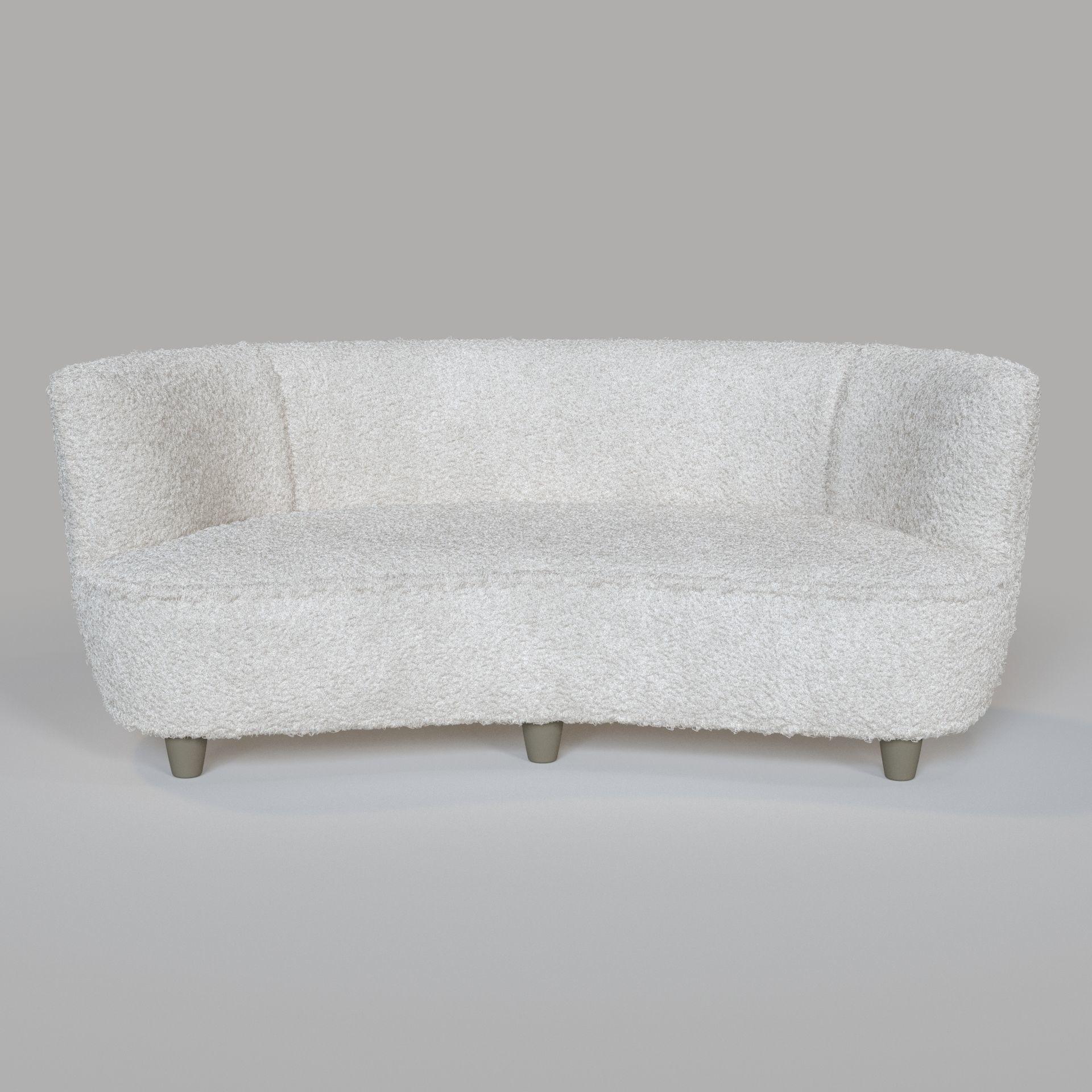 Otto Schultz Canape Sofa 3d Model Max Obj Mtl Fbx
