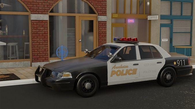 cops machine 3d model obj mtl 1