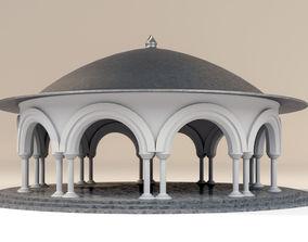 Dome architectural 3D model