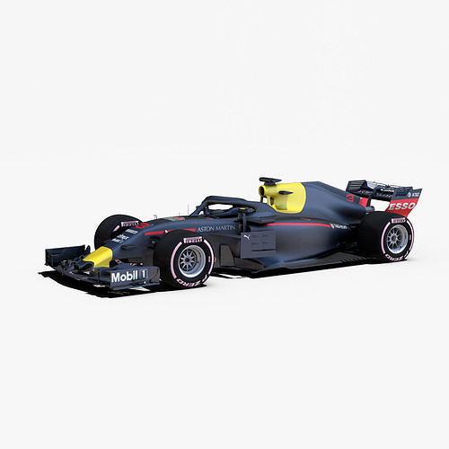 formula 2018 car 3d model rigged obj mtl 3ds fbx c4d ma mb stl 1
